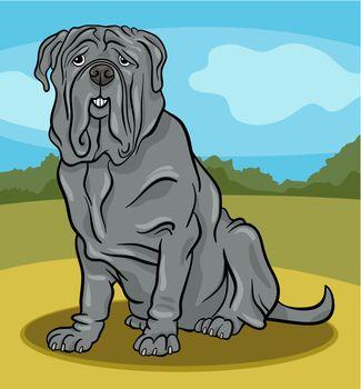 neapolitan mastiff dog cartoon illustration