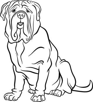 neapolitan mastiff dog cartoon for coloring