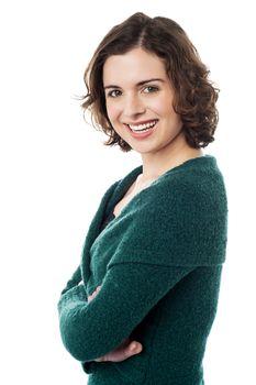 Young woman portrait. Beauty studio shoot