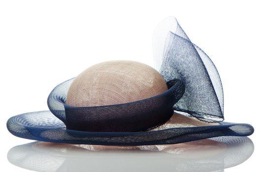 Vintage hat isolated on white background.