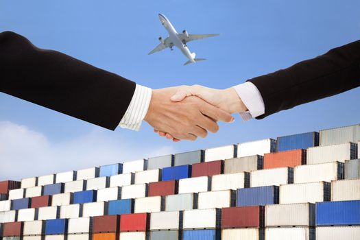 international business trade and transportation concept.business