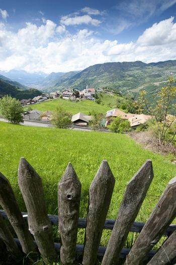 Wooden Fence in South Tyrol