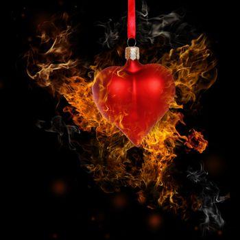 Fire Heart Bauble