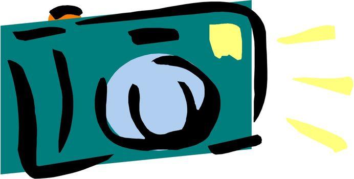 Compact digital foto camera