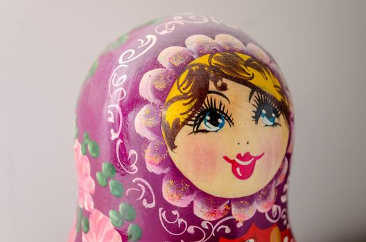 Traditional Russian Matrioska, vintage toy doll from Russian Culture