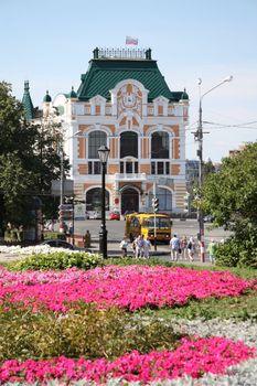 City Council building in historic district of Nizhny Novgorod, Russia