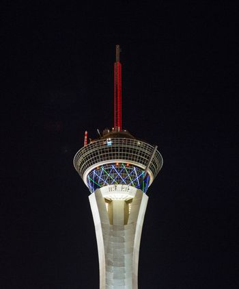 LAS VEGAS - NOVEMBER 08: The Stratosphere tower on November 08, 2012 in Las Vegas. Las Vegas in 2012 is projected to break the all-time visitor volume record of 39-plus million visitors