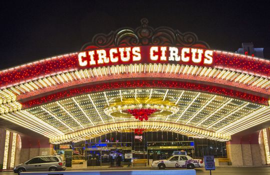 LAS VEGAS - NOVEMBER 08: The Circus Circus hotel and casino on November 08, 2012 in Las Vegas. Las Vegas in 2012 is projected to break the all-time visitor volume record of 39-plus million visitors