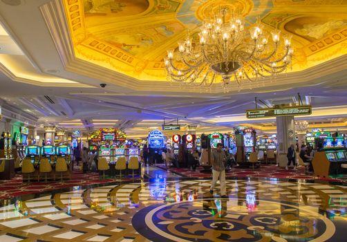LAS VEGAS - NOVEMBER 08: the interior of Venetian Hotel on November 08, 2012 in Las Vegas. Las Vegas in 2012 is projected to break the all-time visitor volume record of 39-plus million visitors