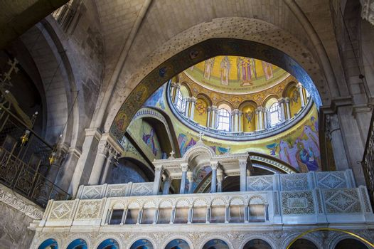 Interior of the church of the Holy sepulcher in Jerusalem , Israel