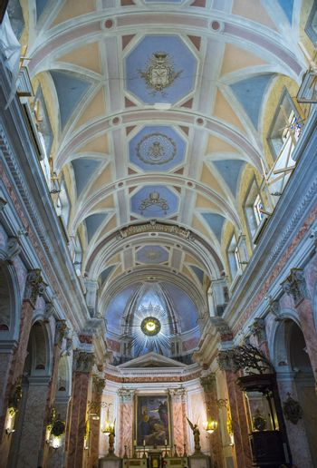 The interior of St. Peter's Church in Jaffa , Israel