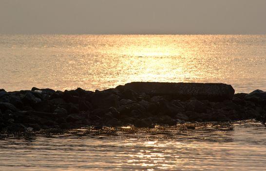 sun rise on the beach Hua Hin