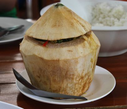 Steamed Seafood Pudding / Hor-Mok Talay