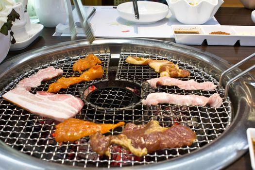 kalbi in the korean restaurant