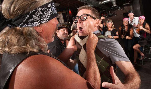 Gang Member Grabs Nerd