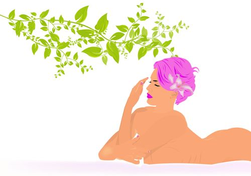 Body care. Spa concept. Female cosmetology