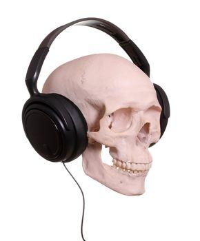 cranium with headphones