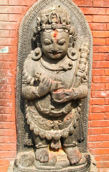 Nepal statues in temple