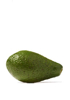 Close-up of avocado on white background