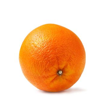 Perfectly fresh orange on white. The file includes a clipping path.  Professionally retouched high quality image.