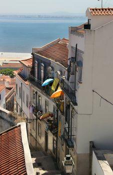 Lisbon typical street