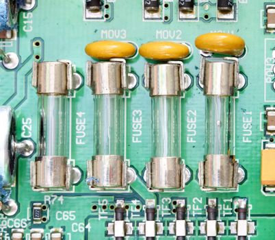 fuse and component with circuit board