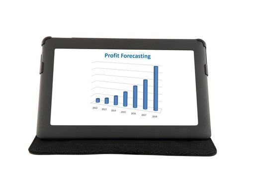 Financial report on touchscreen tablet