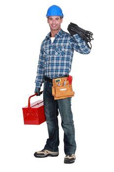 Man with tool box