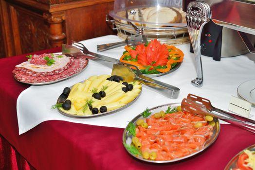 Breakfast at the hotel. Breakfast Buffet.
