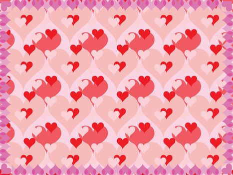 background for Day of Valentine vector illustration