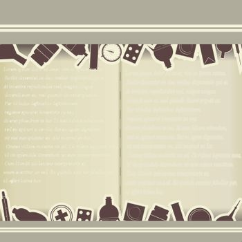 Vintage background with medical themes