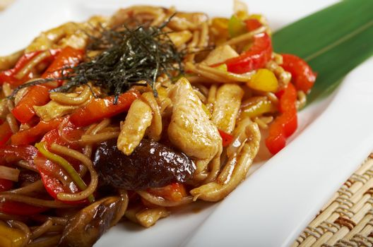 udon noodles with beef