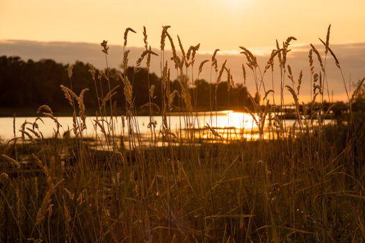 Reflection Of A Setting Sun
