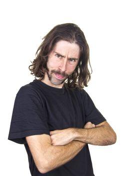 a portrait of expressive man