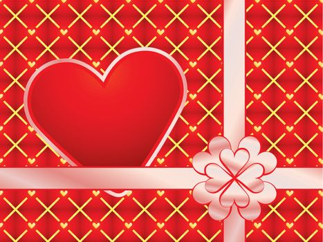 gift wrapper with red valentine vector illustration
