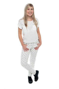 Cool teen girl in trendy casuals