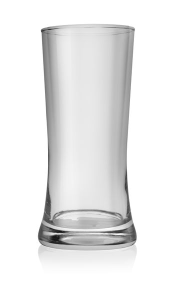 Large glass of beer isolated