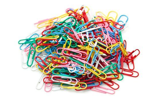 Multicolored paper clips
