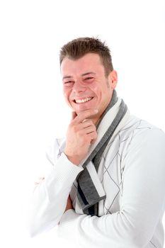 Man enjoying a good laugh