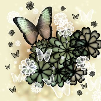 Butterflies and Blossoms Illustration