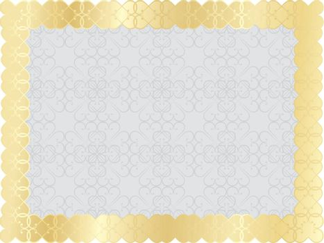 gray abstract  background with golden frame
