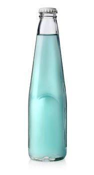 Bottle of blue alcohol