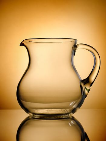 Pitcher on a gold background