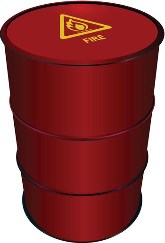 Red Steel Barrel