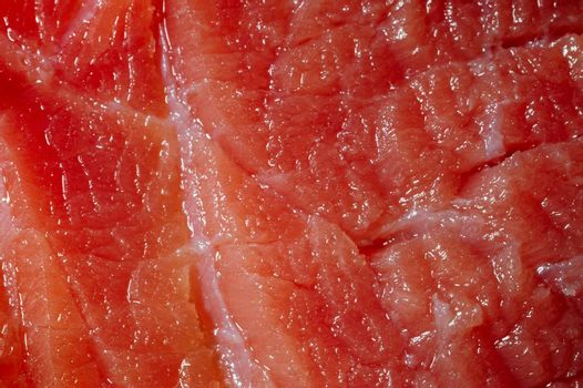 A piece of refresh meat close up