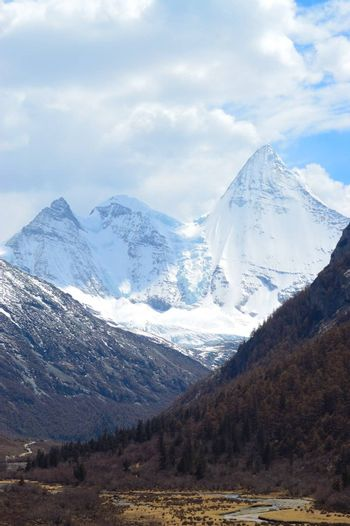 Snowy Mountains in Yading, Daocheng county, Ganzi district, Sichuan province, China