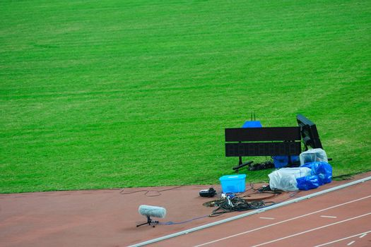 Instruments on the track and field competition field
