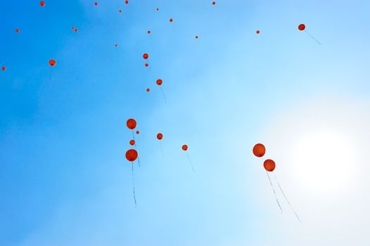 Balloons Fly to the blue sky
