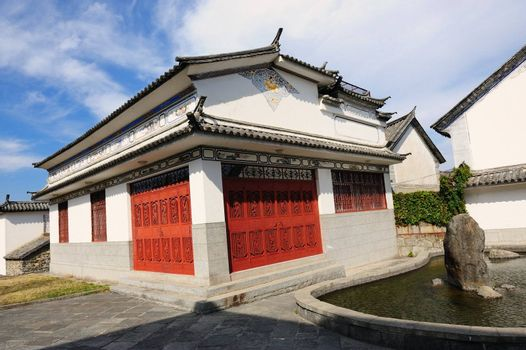 China traditional style building in Dali city, Yunnan province of China