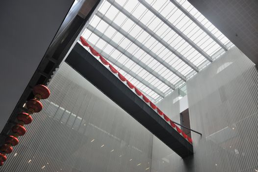 Modern architecture interior with Chinese characteristics